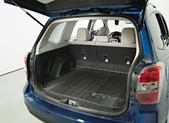 the Forester has a generous cargo area and it's easy to load.